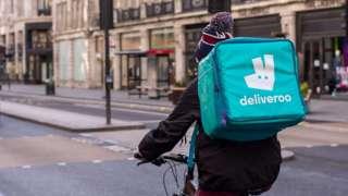 Un cycliste de Deliveroo