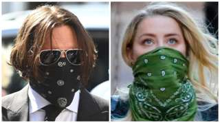Johnny Depp and Amber Heard arrive at court in London on Friday