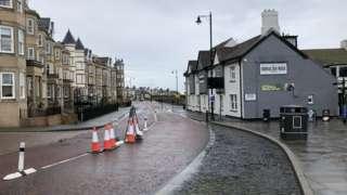 Cycle lane in Tynemouth