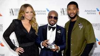 Jermaine Dupri with Mariah Carey and Usher