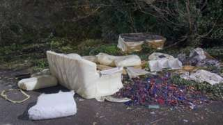 Fly-tipped rubbish in Kent