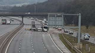 Image of M1 showing the diversion