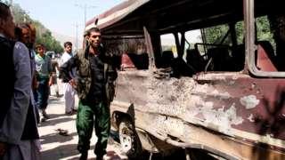 Uwujejwe umutekano muri Afghanistan hamwe n'abanyagihugu impande y'ibisi ihejeje guturitswa n'igisasu i Kabul, itariki 25/07/2019