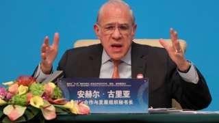 Organization for Economic Cooperation and Development (OECD) Secretary-General Angel Gurria.