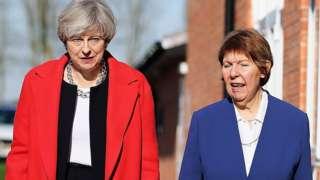Theresa May and Kay Cutts