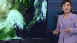 North Korean weather presenter