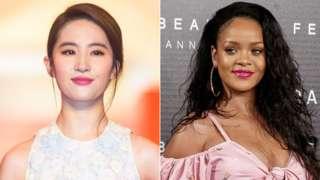 Liu Yifei and Rihanna
