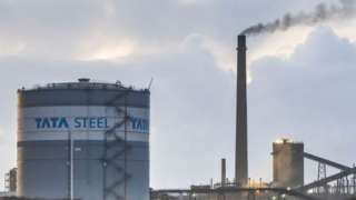 A general view of Tata Steel steelworks on December 16, 2020 in Port Talbot, Wales