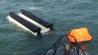 Stricken fishing boat