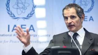 IAEA director general Rafael Grossi at a news conference in Vienna (24 May 2021)
