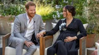Prince Harry and Meghan, The Duke and Duchess of Sussex, give an interview to Oprah Winfrey