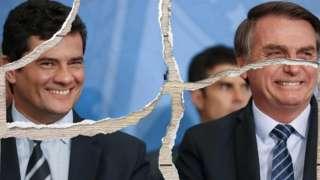 Montagem Moro e Bolsonaro