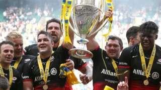 Saracens celebrate Premiership title
