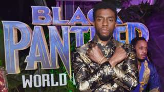 Chadwick Boseman at the Black Panther premiere in Los Angeles in 2018