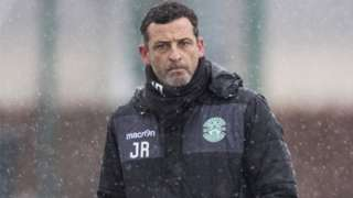 Hibernian head coach Jack Ross