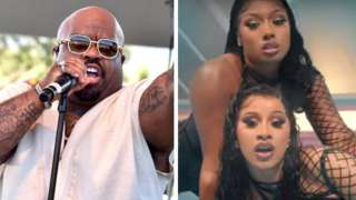 CeeLo Green, and Cardi B (bottom right) with Megan Thee Stallion