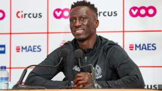 Former Senegal international Mbaye Leye being unveiled as coach of Standard Liege