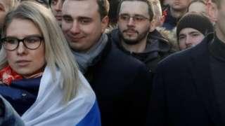 Lyubov Sobol at a rally in Moscow (29/02/20)