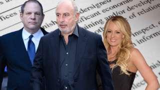 Harvey Weinstein, Sir Philip Green and Stormy Daniels