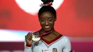 Simone Biles wins gold in the vault