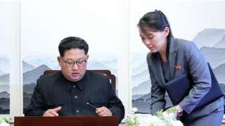 Ким Чон-Ын с сестрой