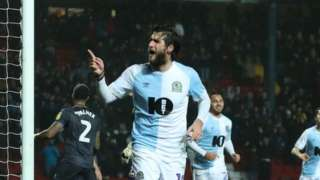 Danny graham celebrates scoring for Blackburn v Sheff Wed