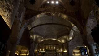 The ceiling of the Giralda Bar where a bathhouse was uncovered
