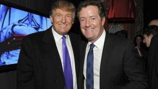 Donald Trump and Piers Morgan