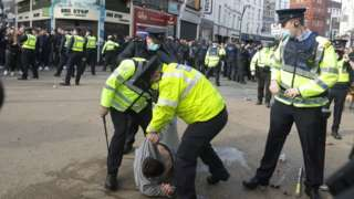 Arrests at Dublin Covid-19 restrictions protest