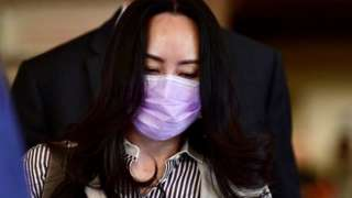 Huawei Technologies Chief Financial Officer Meng Wanzhou leaves a court hearing during a break in Vancouver, British Columbia, Canada, 28 September, 2020.