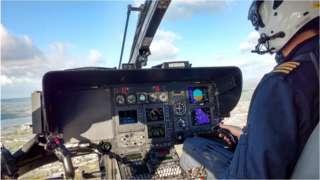 Inside NPAS helicopter