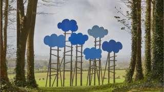 Olaf Breuning, Clouds, 16.04.18. Copyright: Cass Sculpture Foundation and Olaf Breuning.