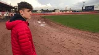 Sam Norris at track