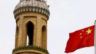 新疆,中国国旗