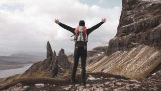Walker on the Isle of Skye