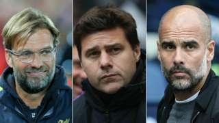 Jurgen Klopp, Mauricio Pochettino and Pep Guardiola