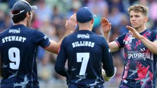 Kent celebrated going through to their first T20 final since losing to Middlesex at Southampton in 2008