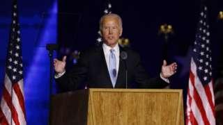 President-elect Joe Biden addresses the nation