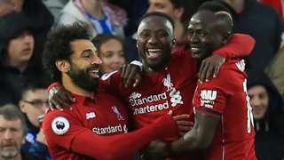 Mohamed Salah, Naby Keita & Sadio Mane celebrate