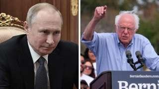 Russian President Vladimir Putin and Democratic presidential candidate Bernie Sanders