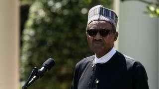 Nigeria's President Muhammadu Buhari pictured in 2018
