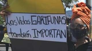Protesta por desaparición de garífunas en Honduras