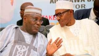 Abubakar atiku ati aa Muhammadu Buhari