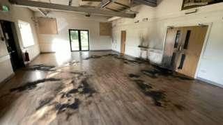 Finmere Village Hall fire damage