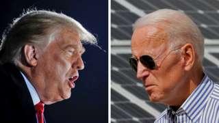 Composite image of Donald Trump and Joe Biden