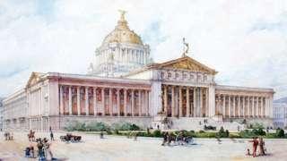 Boceto del Palacio Legislativo