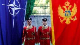 Церемония приема Черногории в НАТО