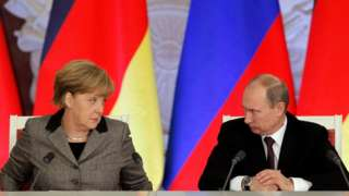 Ангела Меркель и Владимир Путин в 2012 году