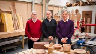 Jonathan Hooley, Iain Stokes and Andrew Ozanne OBE in CLIP workshop at Guernsey Prison