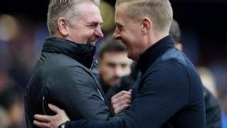 Aston Villa manager Dean Smith and Birmingham City manager Garry Monk